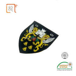 Flying Lions Patterned Design Garment Patches