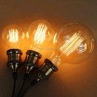 G125 Globe edison bulb E27 125mm 40W60W 2700K high quality filament bulbs