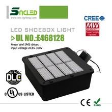 DLC listed led shoe box light UL led shoebox light retrofit kit/led shoe box light 400w led parking lot with 5 year warranty