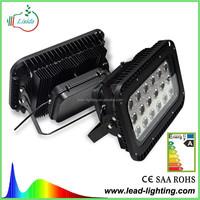 MEAN WELL black grey projector 100watt RGB outdoor light led flood light