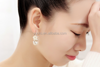 2015 hot sale South Korean popular shell flower tree fork earring