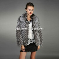 ZQ-16677M Real Silver fox fur women clothing