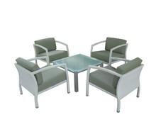 2015 Easy Installation 4 seats Anti-slip Anti-aging Cane Restaurant Furniture