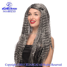 Wholesale synthetic hair corpse bride wigs grey color