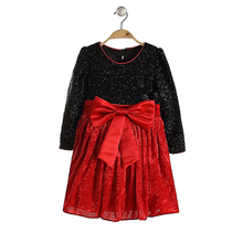 dress designs for young girls fashion style design long sleeves dress hot sale frocks for Xmas party