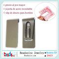 Beadsnice ID26421 al por mayor de calidad superior para hombre porta clips para billetes monedero de joyería de acero inoxidable