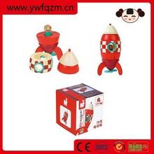 Wholesale new fashion design wooden kids toy rocket
