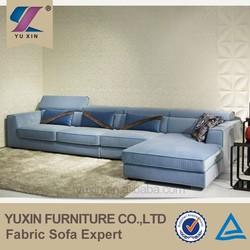 Linear Blue Velvet Sofa home