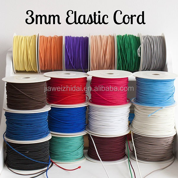 Fabric Elastic Cord Stretch Cord Fabric Polyester