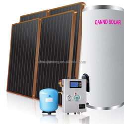 Split pressurized flat plate balcony solar water heater flat plate solar thermal collector prices plastic solar water