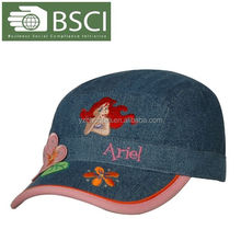 BSCI,sedex factory cute and cheap wholesale embroidered children mesh cap