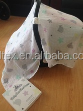 Hot Sales 100% Cotton Fashion Pattern Baby Car Seat Cover