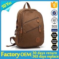 student canvas bag / canvas backpack manufacturer / school canvas backpack