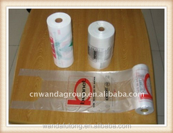 wholesale vb-69 biodegradable cheap small, middle,large plastic T-shirt bags on roll HDPE custom printed