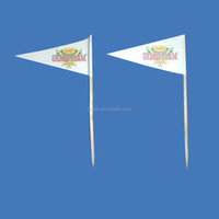 New product party bamboo decorative flag toothpick