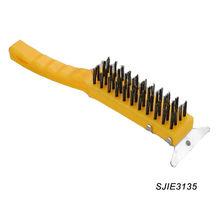 cepillo de alambre con raspador metálico