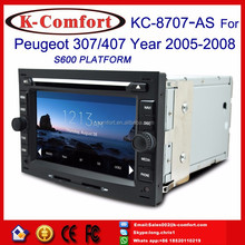 K-Comfort good double din car gps dvd for peugeot 407 with GPS + SWC + Radio + RDS BT+ SD + USB CD/DVD IPOD Aux-in