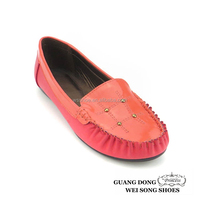 color matching soft buttons foreign trade customize women casual loafer shoes