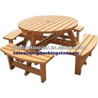 8 seater round pub bench picnic table