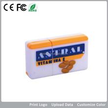 Intresting and cool custom Rectangular cheapest usb best gift for PVC USB flash drive