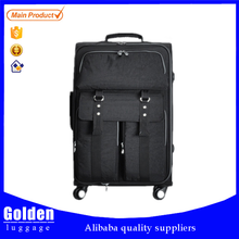 Alibaba online shopping nylon luggage made in China luggage bag high quality travel luggage with skate wheels