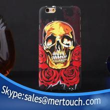 Creative luminous flower skull heads skullheads cell phone case for iphone 6 iphone 6 plus
