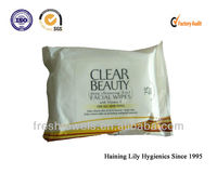 disposable natural Makeup remover wet wipes Nonwoven cosmetic pad