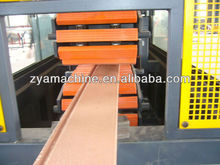 WPC floor profile production line/plastic wood deck profile extruder/ wood plastic machine
