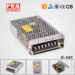 Factory best price dual switch mode 50w 12v 24v switching power supply/smps