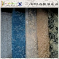 China made pretty jacquard design curtain sheer fabric