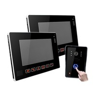 Home security system 9 color easy install video door phone with camera