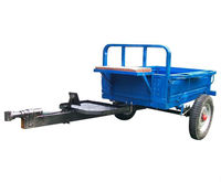 hand tractor trailer1 ton single axle dump farm trailer
