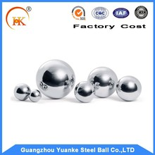 Yuanke stainless steel ball or chrome steel ball size:1.588-25.4mm packed by plastic box