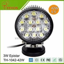 Round led work light IP68 6000K 42w led tuning work light
