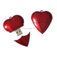 8G red heart shape USB pen drive