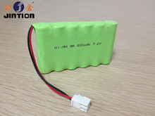 7.2v Ni-mh AA 600mAh rechargeable battery pack with connector