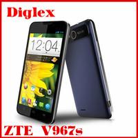 Wholesale original zte v967s smartphone quad core mtk 6589 5.0 inch 4GB rom wifi gps zte mobile phone