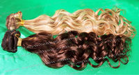 "22""Chinese human hair P color clip in hair extensions"