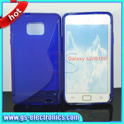 For samsung galaxy s2 case s line transparent TPU cell phone cases