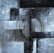 100%handmade beautiful black and white abstract oil painting