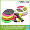 2015 High Quality Colorful pet feeder / Foldable Silicone Pet Bowls for dog