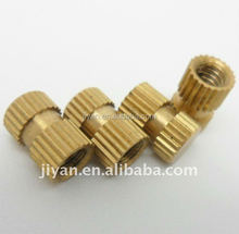 OEM threaded knurled insert brass inserts for plastics