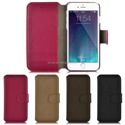 Luxury Genuine PU Leather Flip Wallet Case For Iphone 6