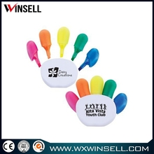 Hot selling 5 flower marker with fluorescent highlight pen
