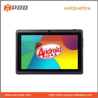 2014 best price used tablet pc hot sellallwinner a23 dual core android 4.4.2 os 512mb ddr 4gb memory 2500mah battery