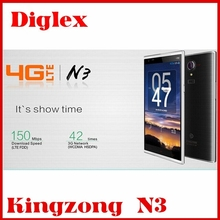 Factory Price original Smart Phone Android 4.4 WIFI GPS Google Play 13.0mp Cameras 1280*720p Kingzong N3 4G LTE Cell Phone in st
