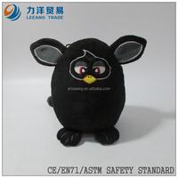 plush birds/flying animals/black owl, Customised toys,CE/ASTM safety stardard