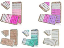Hot selling Luxury Brick Design Glitter Bling Diamond-studded Crystal Stone Mobile Cover for iPhone 6 Rhinestone Phone Case
