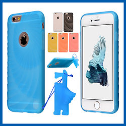 C&T Translucent Slim Case Bumper Cover Phone Stand Holder Soft Armor Cases Standable TPU Defender for Apple iPhone 6 6S 4.7''