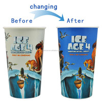 plastic cups heat resistant hot changing color plastic cups new product 2015